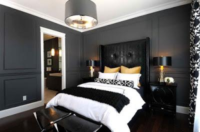 yatak odalarında dramatik dekorasyon