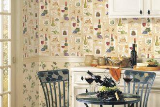 Mutfak Duvar Kağıt Modelleri 2019