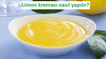 Limon kreması nasıl yapılır?
