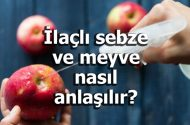 İlaçlı sebze ve meyve nasıl anlaşılır?