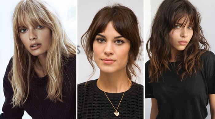saçlarda sıcak tonlar - kakül kesim saç modelleri