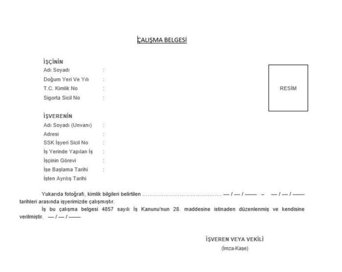 çalışma i̇zin belgesi