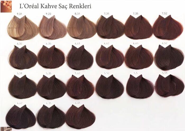 kahverengi renk kataloğu